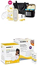 Medela Freestyle Flex Breast Pump and Breast Care Set for Breastfeeding & Breast Pumping Moms, Smart Pump, Closed System, Portable, Ultra Thin and Super Absorbency Disposable Nursing Pads, Lanolin