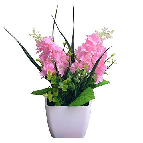 Sytaun Hochzeit Set Dekoration Blume, Mini Künstliche Hyazinthe Bonsai Garten Büro Cafe Hochzeit Desktop Decor Rosa