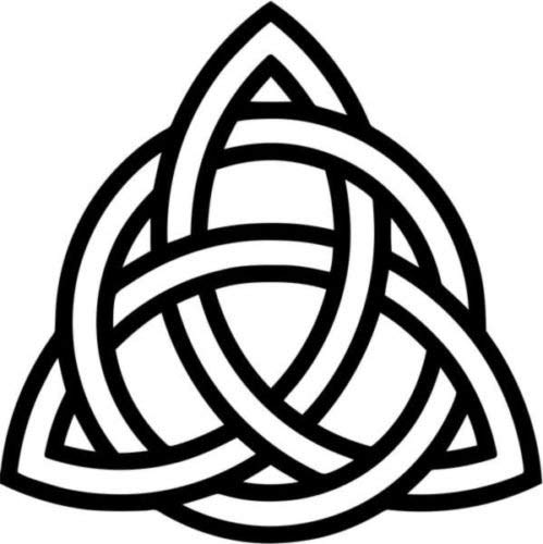 Triquetra Celtic Knot Pagan Symbol Vinyl Graphic Car Truck Windows Decal Sticker - Die cut vinyl decal for windows, cars, trucks, tool boxes, laptops, MacBook - virtually any hard, smooth surface