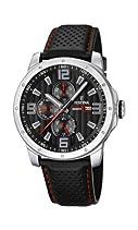 Festina Herren-Armbanduhr XL Analog Quarz Leder F16585/8