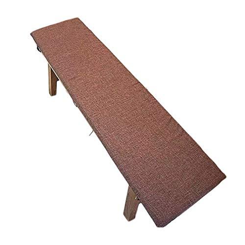 Yzzlh Cojín grueso para banco de cocina, antideslizante, cojín largo para muebles de exterior, 2 – 3 plazas, silla de ratán de jardín, cojín para asiento de comedor, funda para columpio (A,30 x 60 cm)