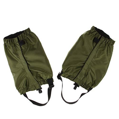 CUTICATE 2 x Wasserdicht Überschuhe Gamaschen Leicht Beinschutz für Bergsteigen, Jagen, Wandern, Radfahren - Armeegrün