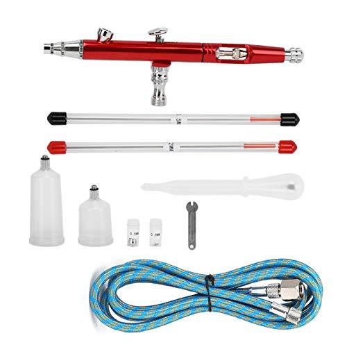 Airbrush Gun Set, DIY Hand Spray Tool Dual-Action Airbrush Painting Spray Gun Justerbara Airbrush Pistoler för Auto Grafik Konsthantverk Tårta Reklam(#1)