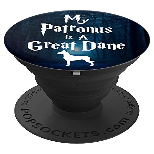 Brave New Look My Patronus is a Great Dane PopSockets Stand for Smartphones and Tablets - PopSockets Grip and Stand for Phones and Tablets