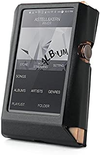 for Astell&Kern AK380 Hand Crafted Miter Leather Case Cover [Patented Stand Case] astell&Kern Leather case (Black)