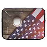 Waterproof Laptop Sleeve 15 Inch, Baseball Print Business Briefcase Protective Bag, Computer Case Cover for Ultrabook, MacBook Pro, MacBook Air, Asus, Samsung, Sony, Notebook