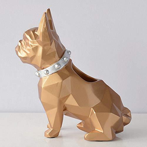 HJMEWW Figuritas Decorativas Escultura Decoración De Estatuilla De Resina para Perro, Soporte para Bolígrafo, Organizador De Escritorio, Accesorios De Oficina, Soporte para Lapicero