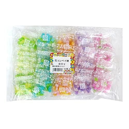 MARUTA Candy Konpeito, Hanatsume, Japanese sugar candy, 0.2oz 50count