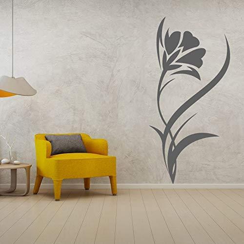 YuanMinglu Minimalismo Flor Vinilo Arte Vector Pared Pegatina Flor para hogar y Tienda decoración 91x180cm
