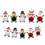 junengSO Paper Honeycomb Ball Party Decoraciones de Papel Santa Claus Muñeco de Nieve Reno Navidad