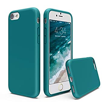 SURPHY Silicone Case Compatible with iPhone SE 2020 Case iPhone 8 Case iPhone 7 Case Liquid Silicone Phone Case  with Microfiber Lining  for iPhone 7 iPhone 8 iPhone SE 2nd 4.7   Teal Blue