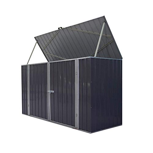 Panana Garden Storage Shed Bike Metal Pent Tool Shed House Galvanized Steel Storage Chest