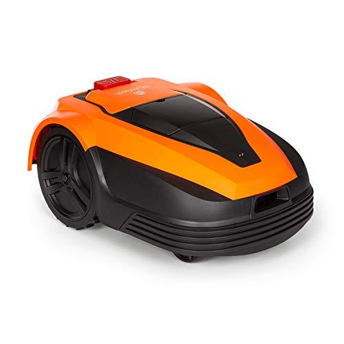 blumfeldt Garden Hero - Robot Tagliaerba, Batteria Ioni di Litio: 5,2Ah, incl. Stazione di Carica, Carica Automatica, Durata: Fino a 180min, Superficie: Fino a 1.200m², Protezione: IPX4, Arancione