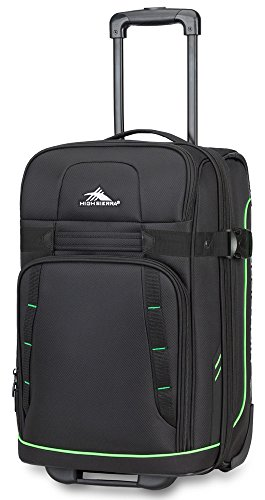 High Sierra Evanston Carry On Upright Luggage, Black/Ash, 22'