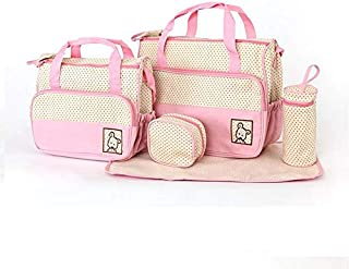 5-in-1 Set Multi Function Baby Diaper Nappy Bag Mummy Babies Bags Changing Set Handbag