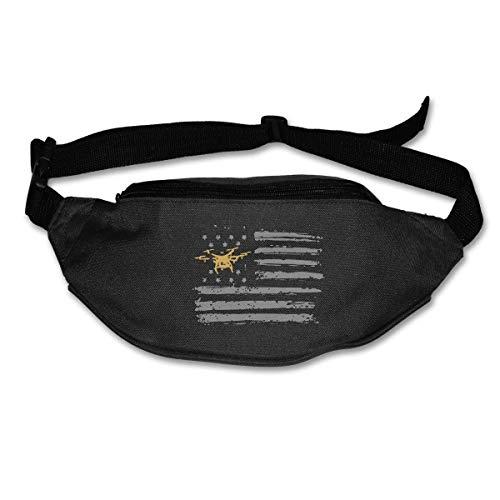 Fanny Pack Waist Bum Bag Adjustable Belt Money Holder Running Sport Waist Bag Drone Pilot USA Flag