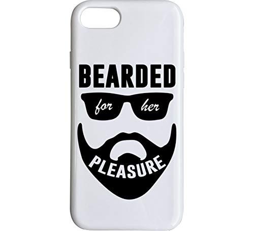 Bearded for Her Pleasure Funny Beard Lover Sexual Humor Meme Phone Case White