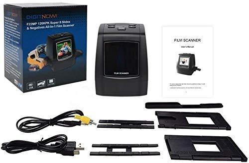Scanner de Films et Diapositives Haute Résolution 22 MP, 35mm, Super 8, 110 et 126 Convertisseur de...
