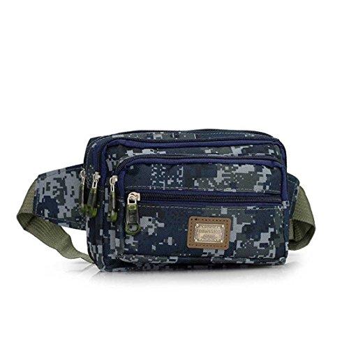 ruifu Unisexe multifonction sport en extérieur Pochette de voyage en Nylon Taille simple épaule poitrine Lot, Marine camouflage