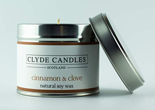Clyde Candle Cinnamon & Clove Natural Soy Scented Candle Tin