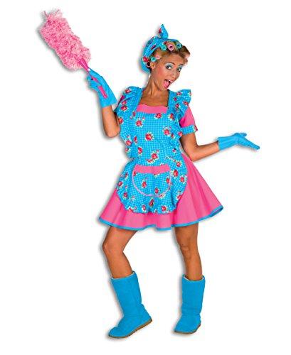Tussi Putzfrau Kostüm 2-teilig sexy Dienstmädchen Verkleidung Damen Hausmädchen Outfit (46)