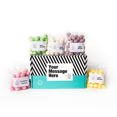 Personalised Sweets Hamper Gift Box for Every Occasion. Write Your on Message on The Label. Unique Christmas, Valentines, Birthday, Anniversary, Mother's or Father's Day Present.(Bon Bons)