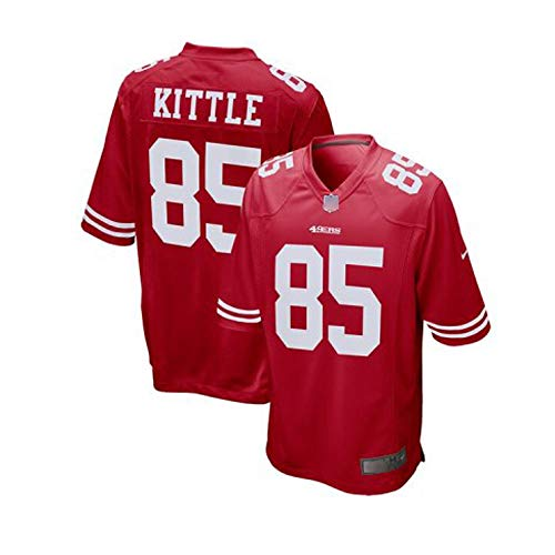 Yitamn Rugby Jersey, NFL San Francisco 49ers 85# KITTLE Legend Embroidered American Jersey Sweatshirt M-XXXL