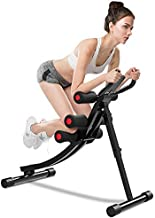 ONETWOFIT Core&Abdominal Trainers Abdominal Workout Machine, Height Adjustable Home Ab Trainer with LCD Display OT129