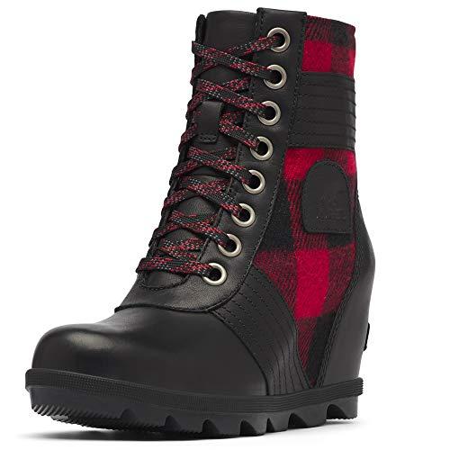 Sorel Women's Lexie Wedge Boots, Black, 5.5 Medium US