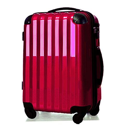 スーツケース中型・超軽量・Mサイズ・TSAロック・旅行かばん・ キャリーバッグ マゼンタ 6202M (マゼンタ)
