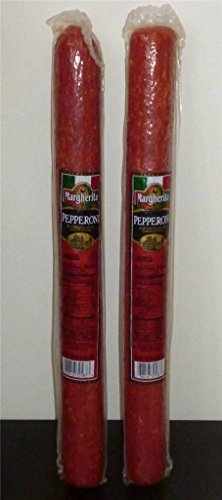 "Margherita Brand VERY BEST Pepperoni HUGE 17"" Sticks, 2 1/2 lbs, (2 Sticks)"