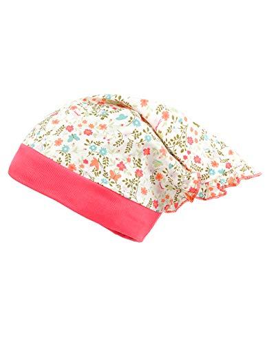 maximo Baby-Mädchen Kopftuch Mütze, Mehrfarbig (Begonie-Blumen/Begonie 8484), (Herstellergröße: 47)