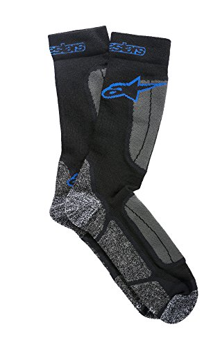 Alpinestars Herren Thermal Socken, Schwarz/Königsblau, S