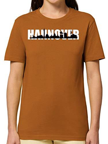 Bio T-Shirt - Stadt Hannover Skyline Waterloosäule - Tolles Geschenk Für Hannover Fans – Heimatstadt - Printed In Germany – 100{16873861217eb51741bd13bfe8f52e7ac876002bc41b94afd1824d1dee96c38b} Bio-Baumwolle