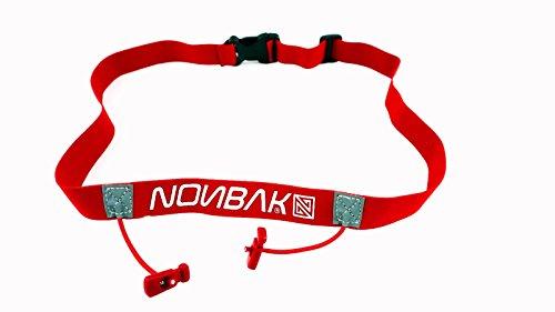 Nonbak portadorsal Race Belt Running Triatlon Trail Running competiciones Black, Neon Green,Orange, Pink, Red (Red/Rojo)
