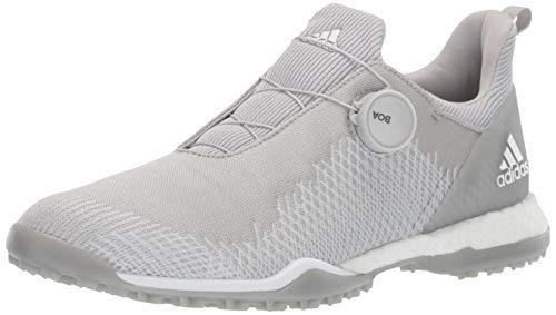 adidas Women's FORGEFIBER BOA Golf Shoe, Grey Two/FTWR White/Silver Metallic, 10 M US