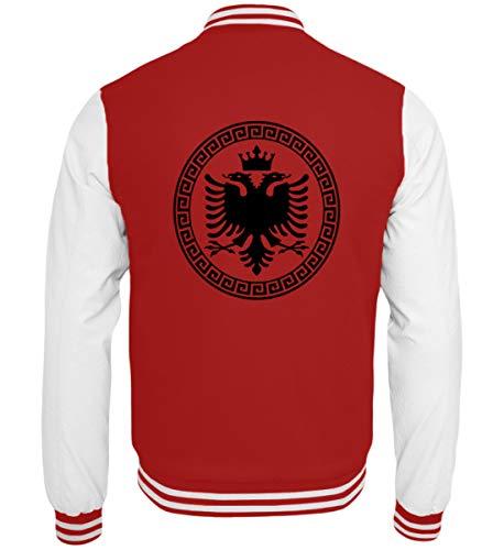 Hochwertige College Sweatjacke - Albanische Flagge Shirt Albanischer Adler Albanien T-Shirt Kosovo Geschenk