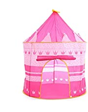 Pink Play Tent Foldable Tipi Prince Folding Tent Children Boy Castle Cubby Play House Kids Gifts Outdoor Toy Tents