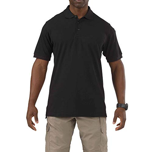 5.11 Tactical Series Utility Polo Short Sleeve Polo Homme Black FR : S (Taille Fabricant : S)