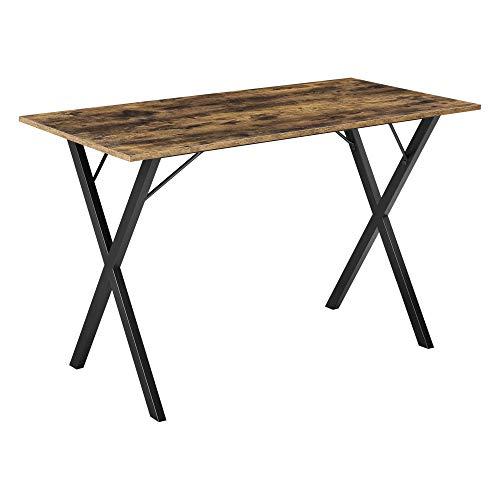 [en.casa] Tavolo da Pranzo 120 x 60 x 75 cm con Tavolo da Cucina con Piano Rettangolare in Colore...