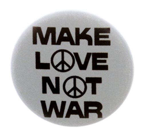 A&T Designs - Make Love Not War 1.25' Pinback Button Pin Peace Sign Hippie