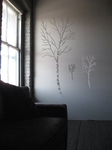 Stencil1 Birch Tree 24 Inch Stencil