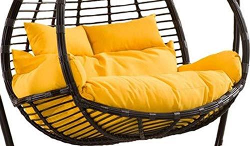 GOPG Hamaca colgante silla silla cojín doble extraíble suave columpio nido de pájaros, cojín para silla colgante adecuado para interior y exterior