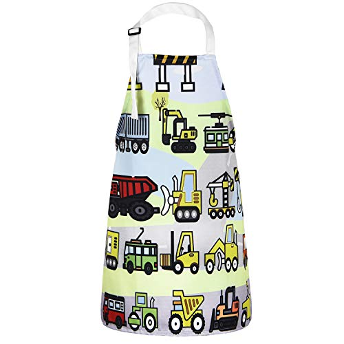 Sunm Boutique Kochschürze Grillschürze Baumwolle Latzschürze für Kinder, Verstellbar wasserdicht 50 * 60cm Bunt
