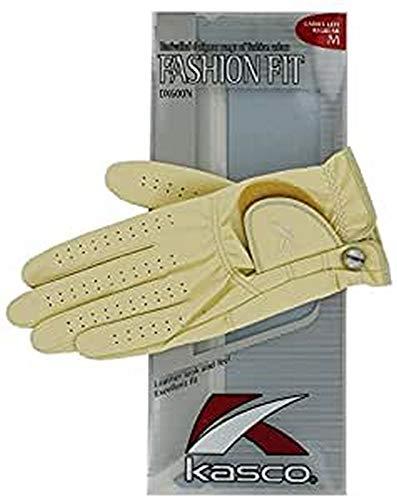 Kasco Damen Golfhandschuhe, modisch, 1 Paar M beige