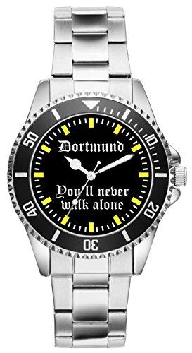KIESENBERG - Dortmund Geschenk Fan Artikel Zubehör Fanartikel Uhr 2208