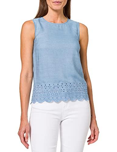 Esprit 061ee1f328 Blusas, Lavado A La Luz Azul, 46 para Mujer