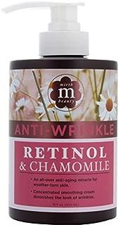 Mirth Beauty Retinol Cream for Face and Body. Anti-wrinkle cream with Retinol, Chamomile, and Aloe Vera. Large 15oz jar with pump