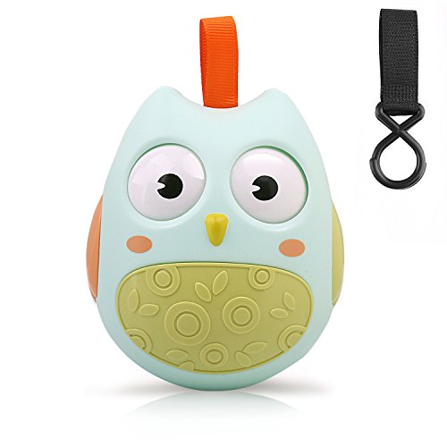 GUHEE Owl Toy Baby Infant Newborn Toys Rattle Car Seat Stroller Toys Roly-Poly Educational Toys Boys Girls (Green)
