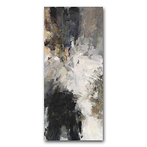 Abstracto blanco y negro moderno arte de la pared lienzo pintura carteles e impresiones amarillo pared cuadros para sala de estar decoración del hogar 60x90 cm sin marco